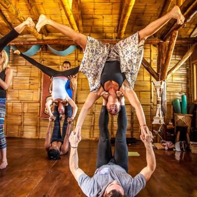 Acroyoga pose at Casa Del Sol Teachers Training.