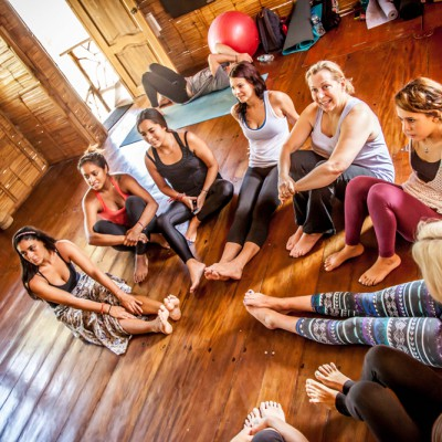After class yoga discussion